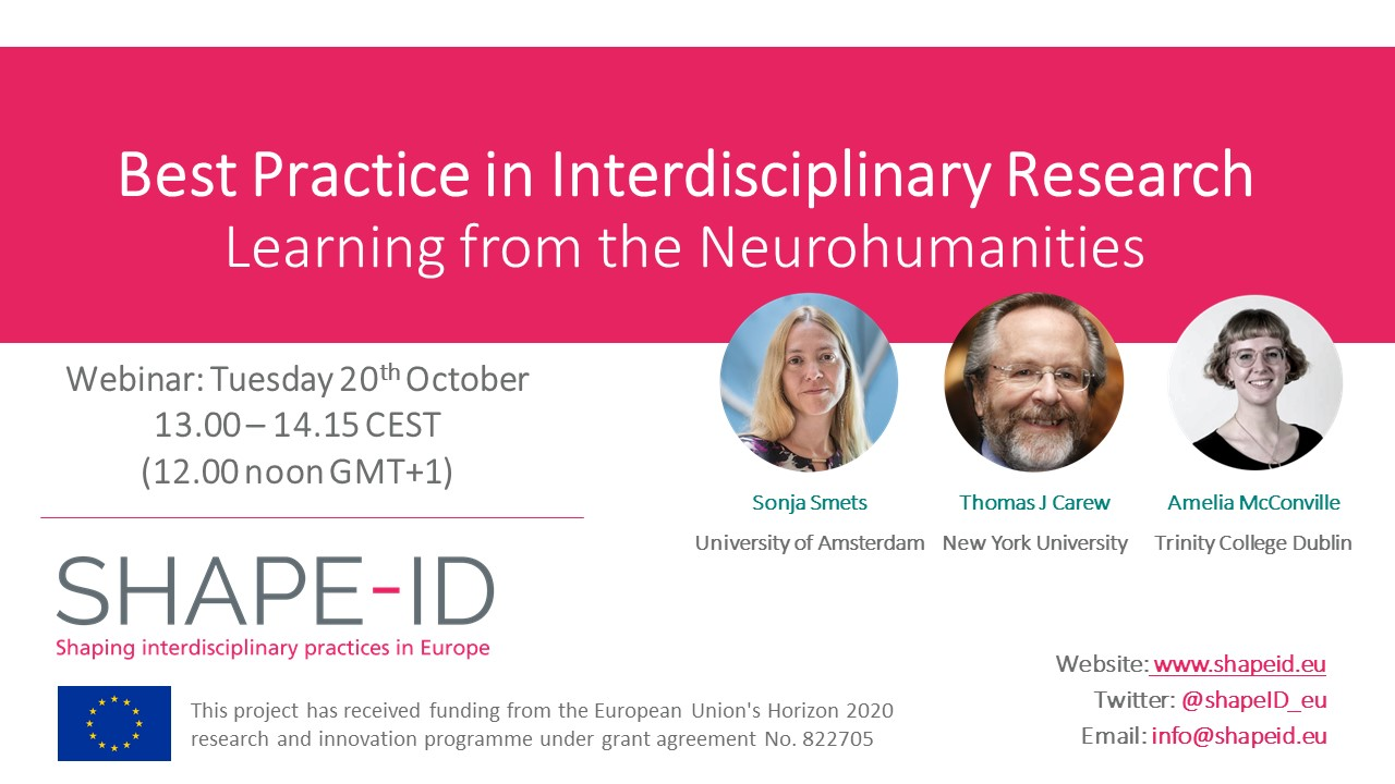 Best Practice In Interdisciplinary Research: Learning From The Neurohumanities