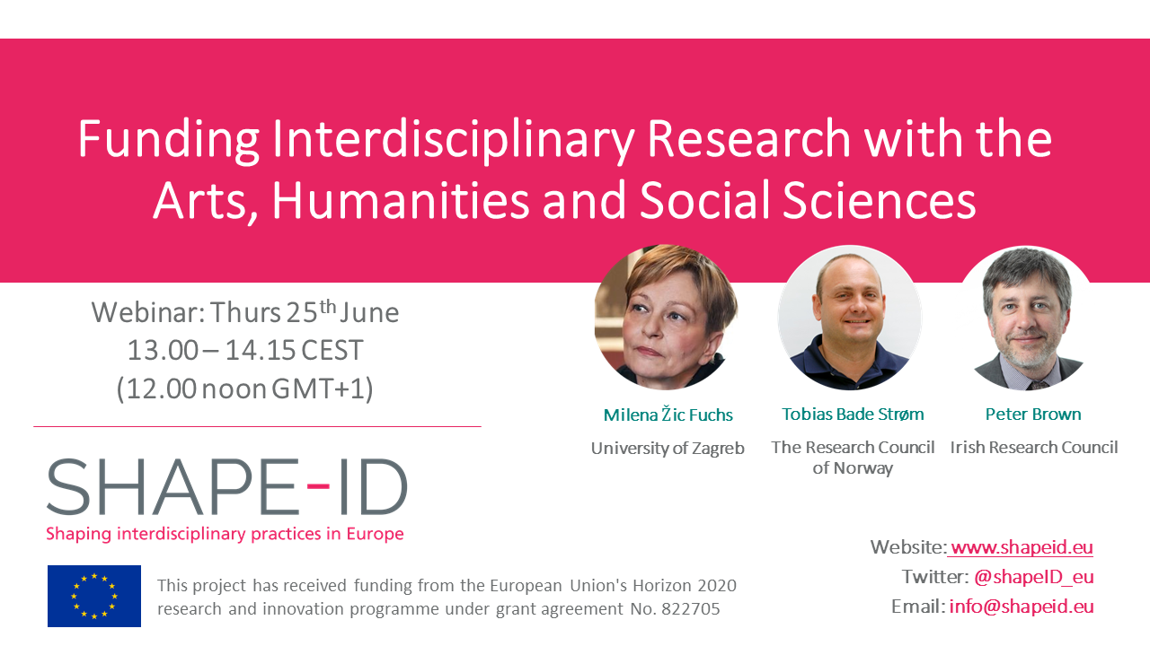 SHAPE-ID Webinar On Funding Interdisciplinary Research