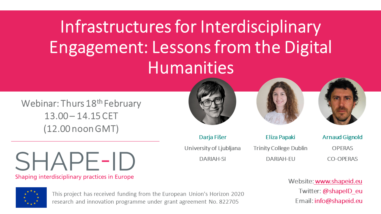 Infrastructures For Interdisciplinary Engagement: Lessons From The Digital Humanities