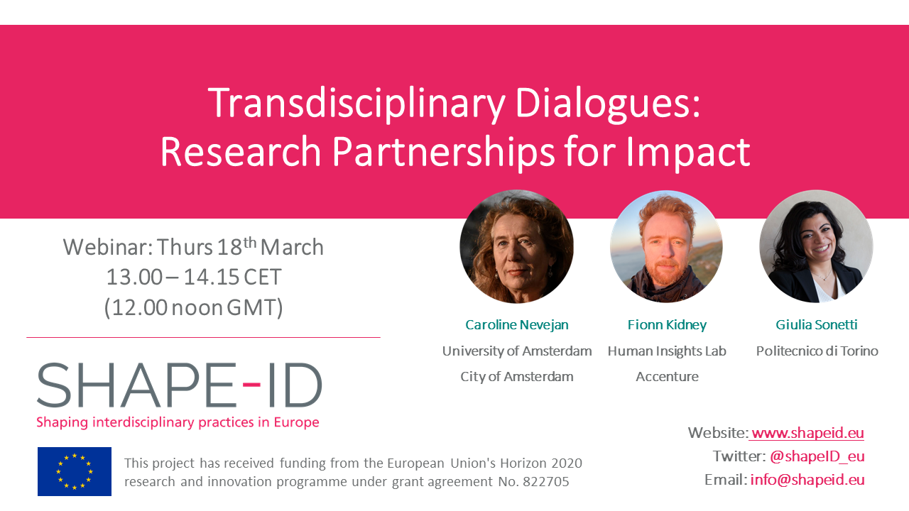 Transdisciplinary Dialogues: Research Partnerships For Impact