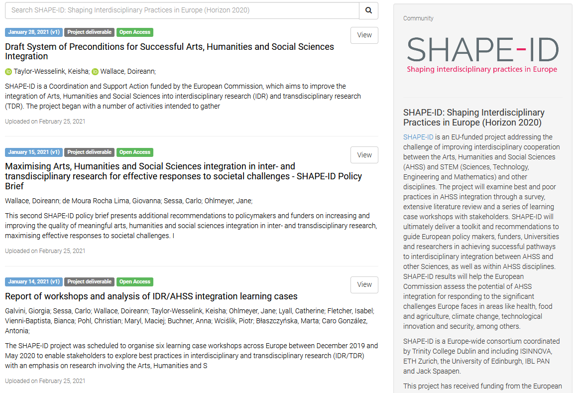 New SHAPE-ID Results Available: Workshop Reports, Policy Brief, Preconditions For AHSS Integration